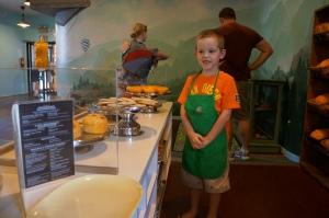 My sons first job at Panera Bread