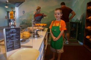 My sons first job at Panera Bread