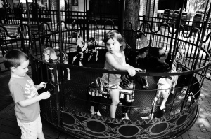 Don't forget to give your kids an old fashion manual carousel ride. It's Free but its gard work on the moms.